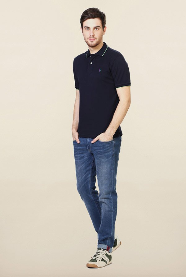 Allen Solly Navy Wimbledon Polo T-Shirt