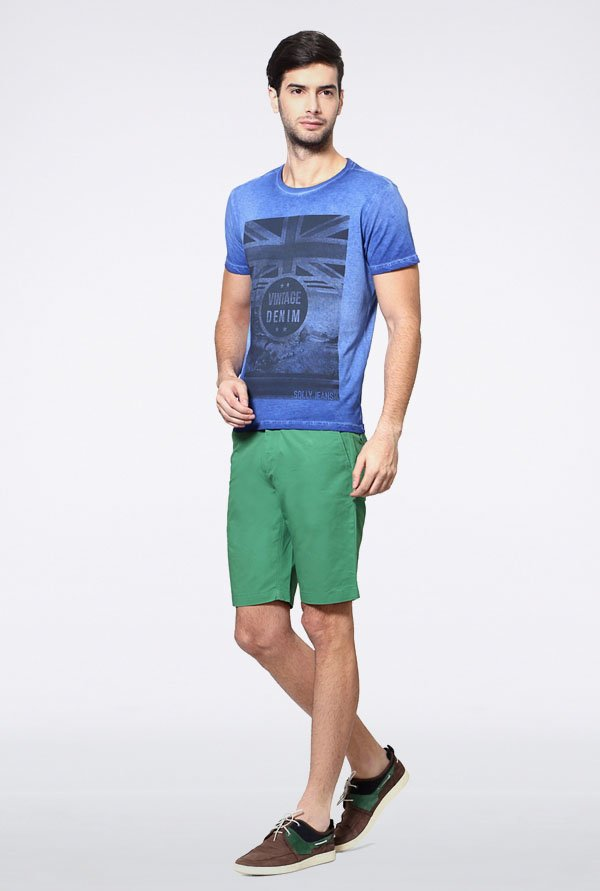 Allen Solly Blue Graphic Print T-Shirt
