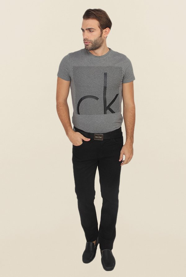Calvin Klein Black Regular Fit Denim Jeans