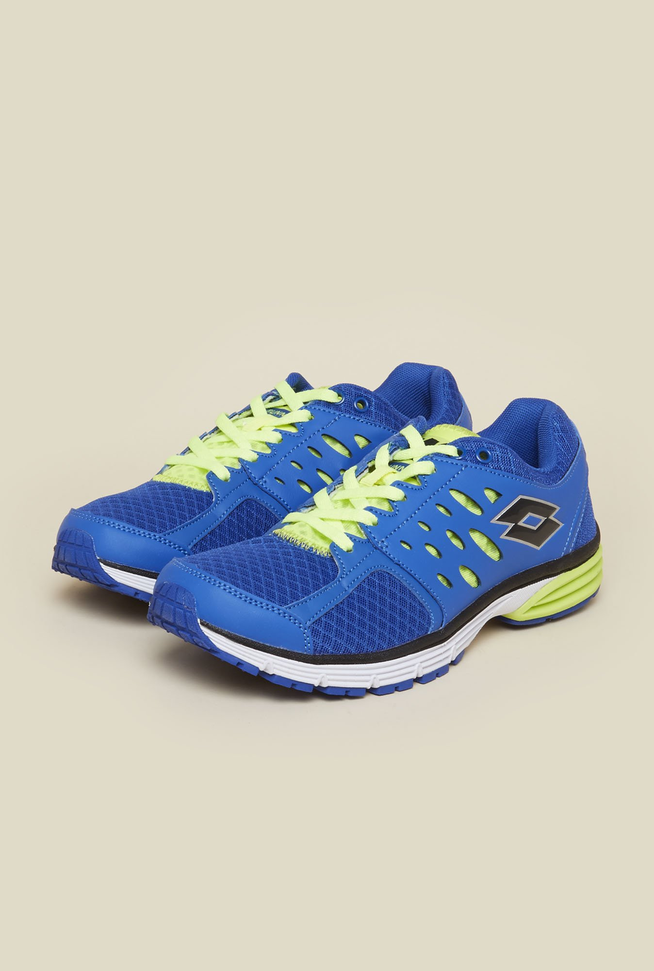 Lotto Santiago II Blue & Lime Green Running Shoes