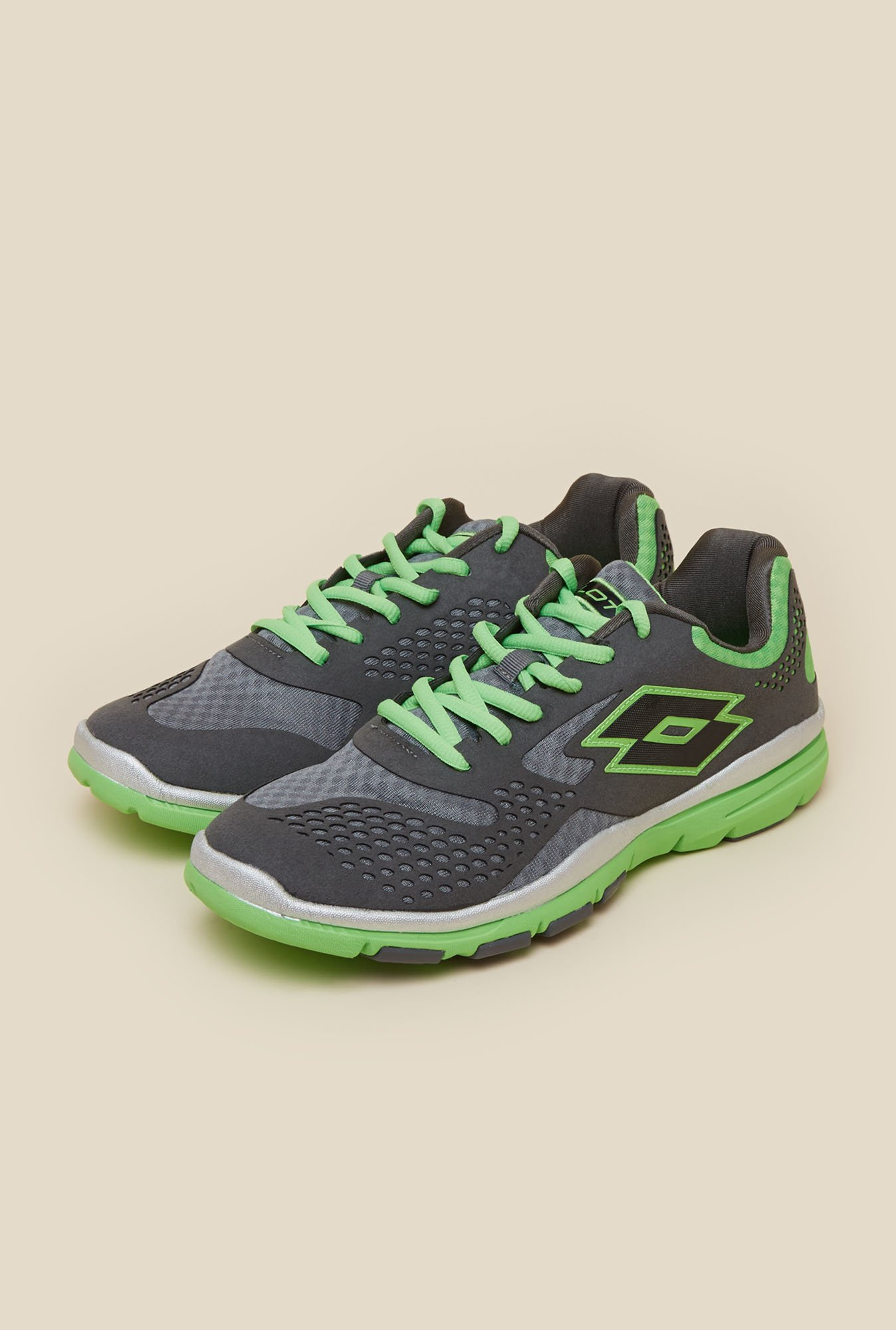Lotto College IV Grey & Green Running Shoes