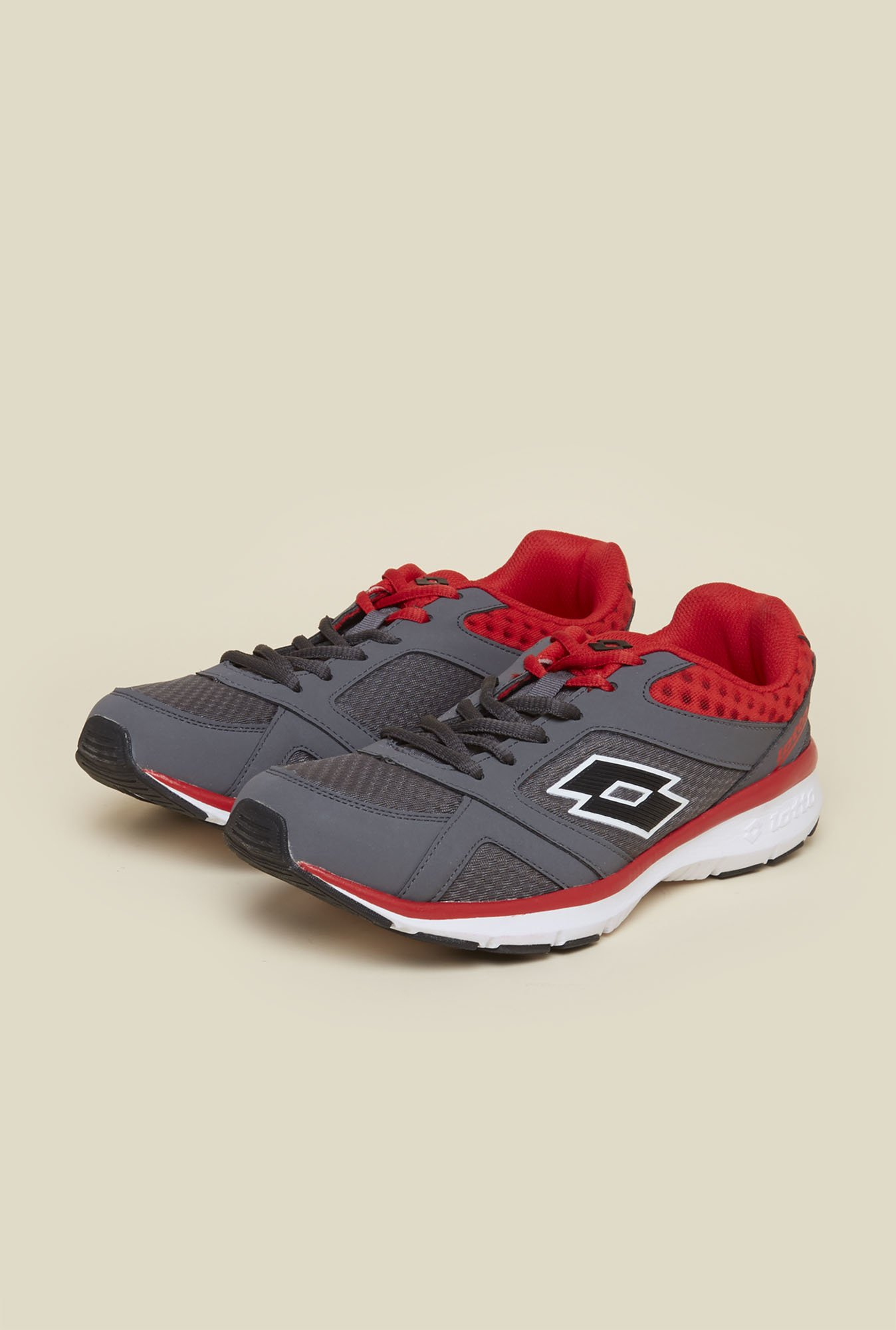 Lotto Sunrise III Grey & Red Running Shoes