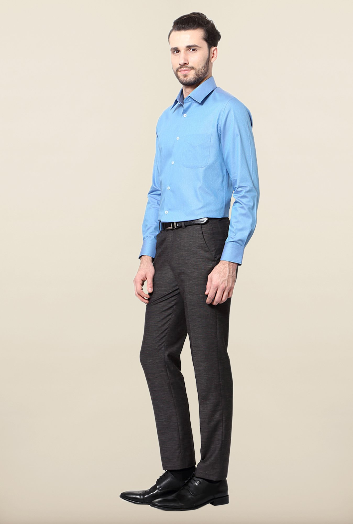 Peter England Blue Cotton Shirt