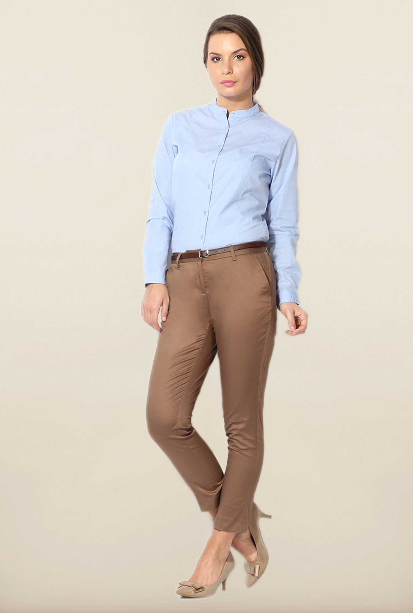 Allen Solly Blue Cotton Formal Shirt