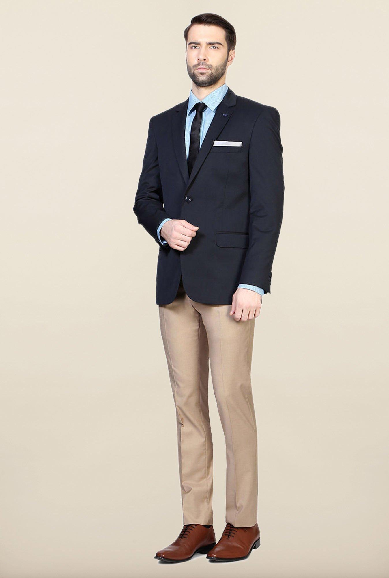 Allen Solly Navy Slim Fit Blazer