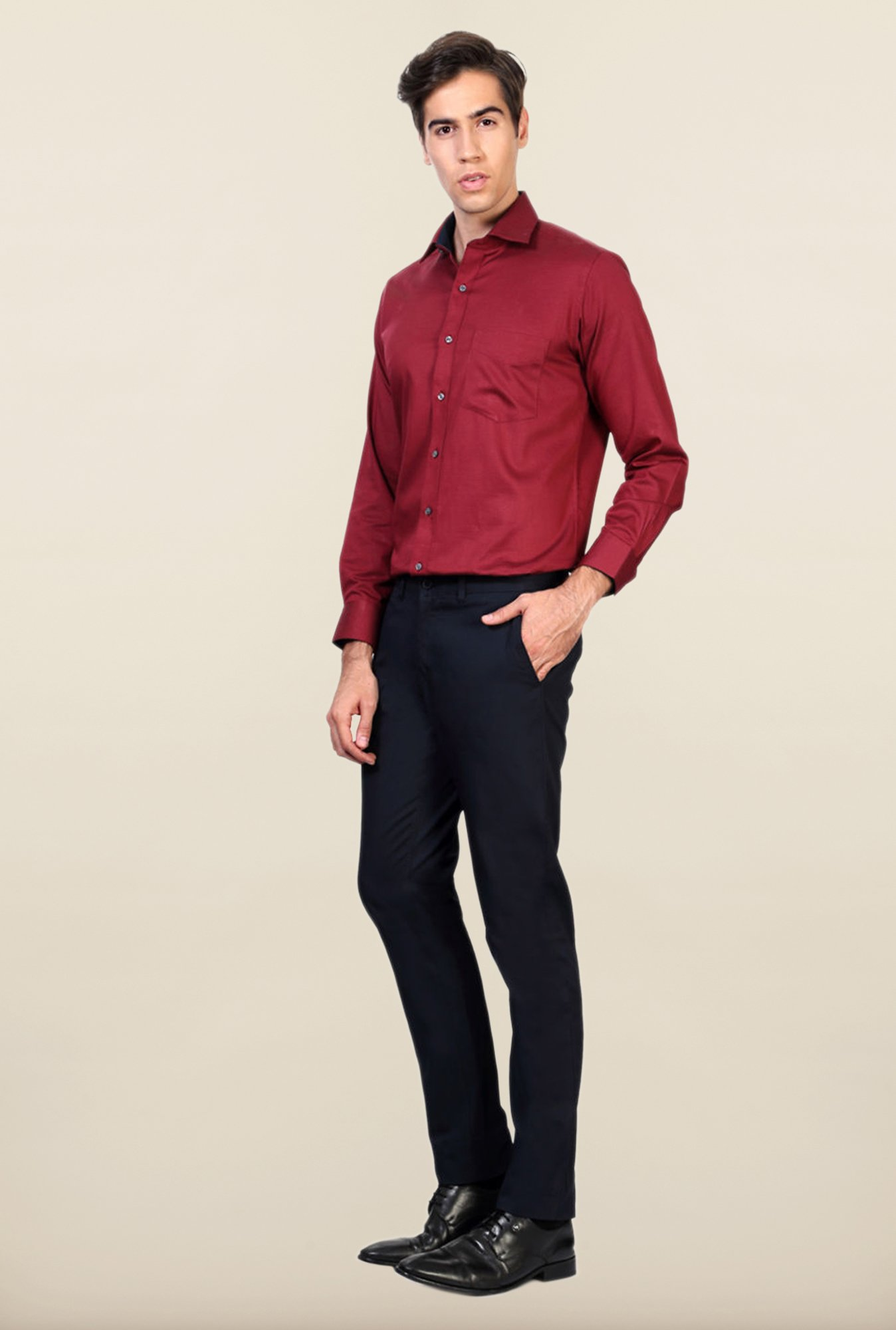 Allen Solly Navy Slim Fit Trouser