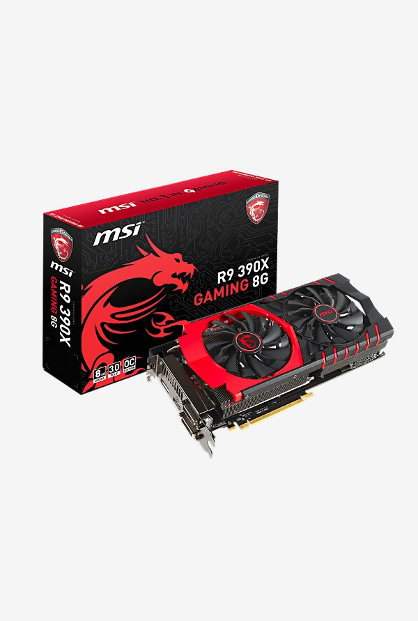 MSI R9 390X GAMING 8G Graphics Card Black