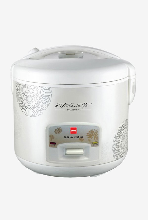 Cook-N-Serve 300 (1000W, 2.2 Ltr) Rice Cooker White