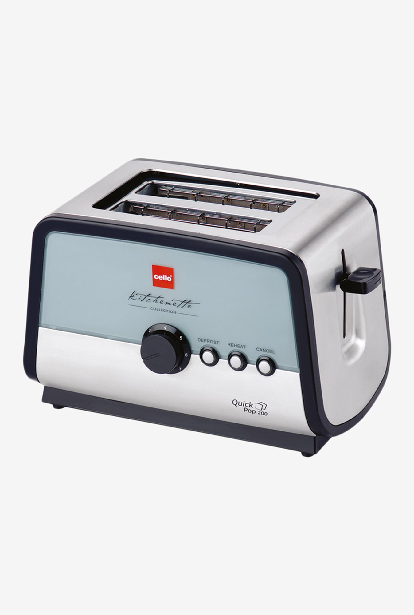 Cello Quick Pop 200 Toaster Silver