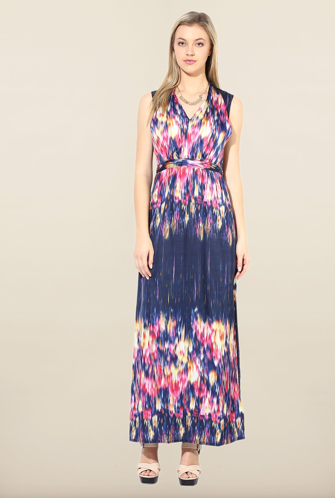 Avirate Multicolor Printed Casual Maxi Dress