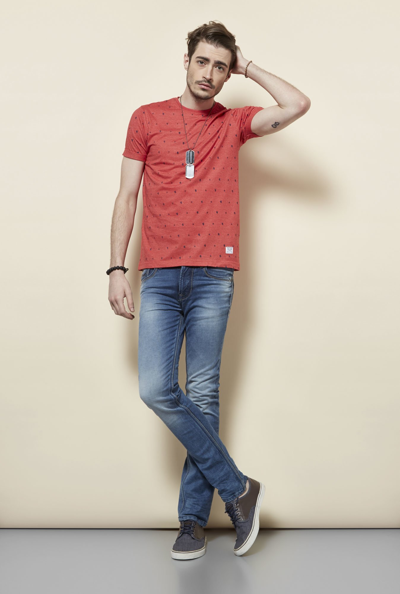 Killer Red Round Neck T Shirt