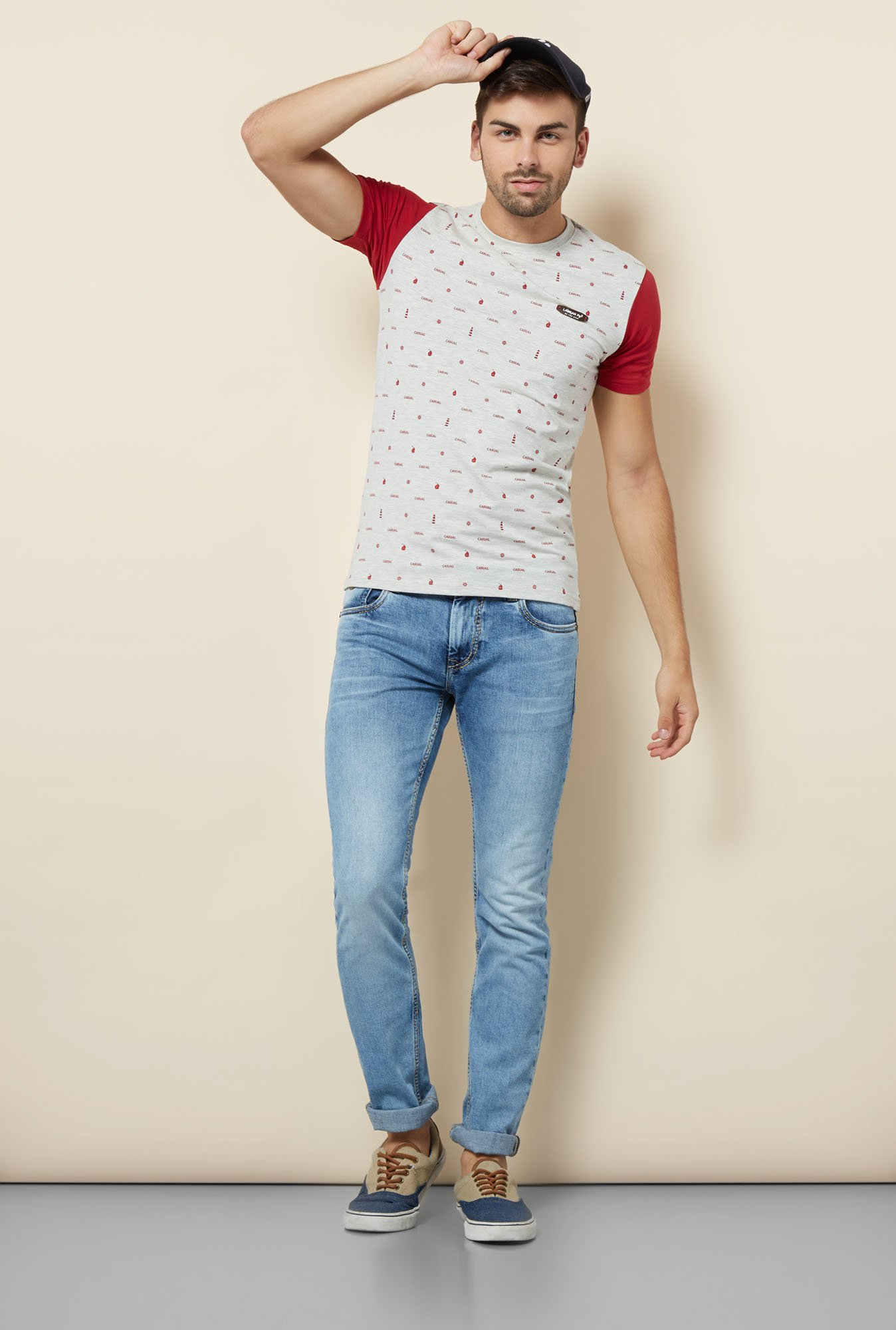 Lawman Grey Slim Fit T shirt
