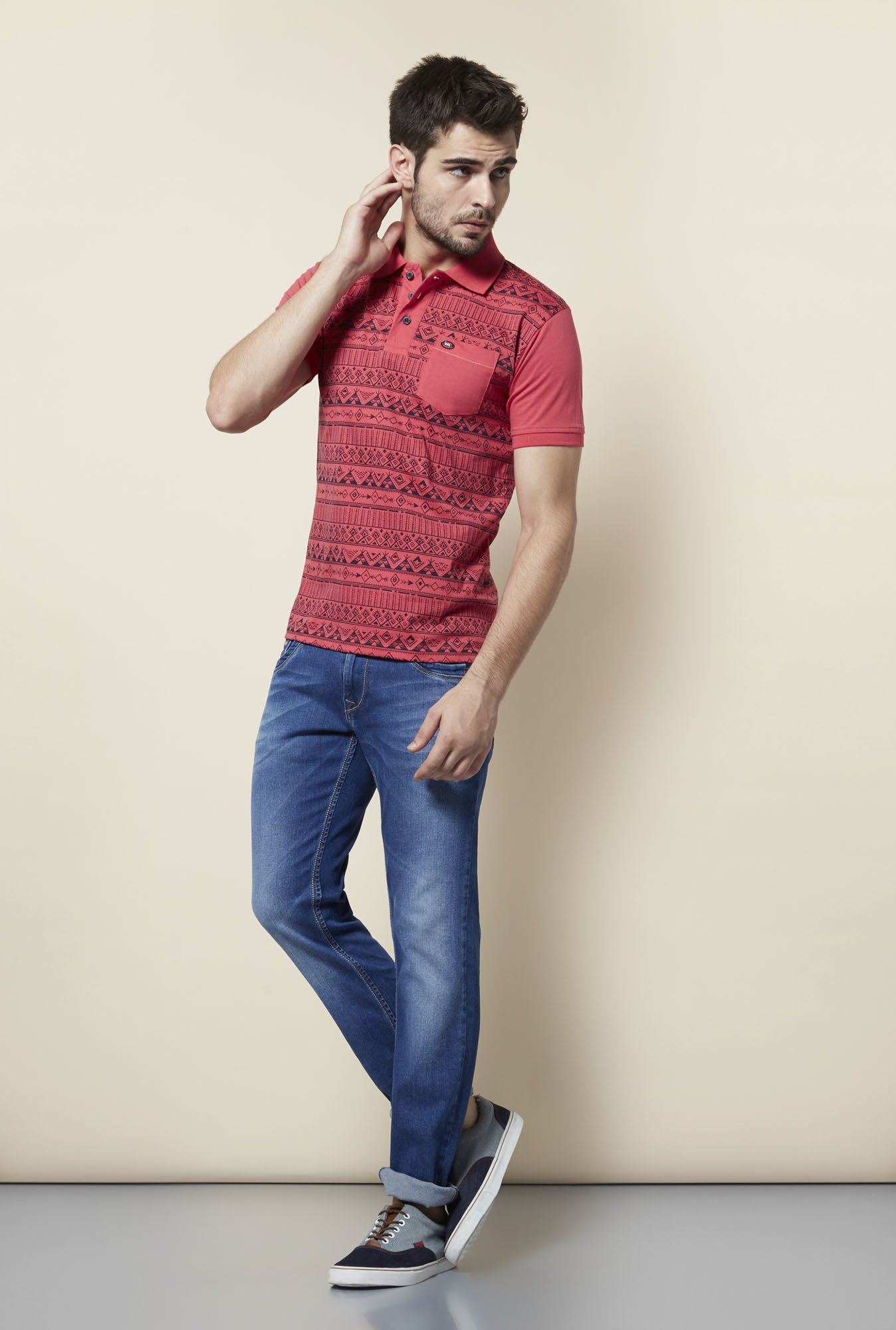 Lawman Coral Printed T shirt
