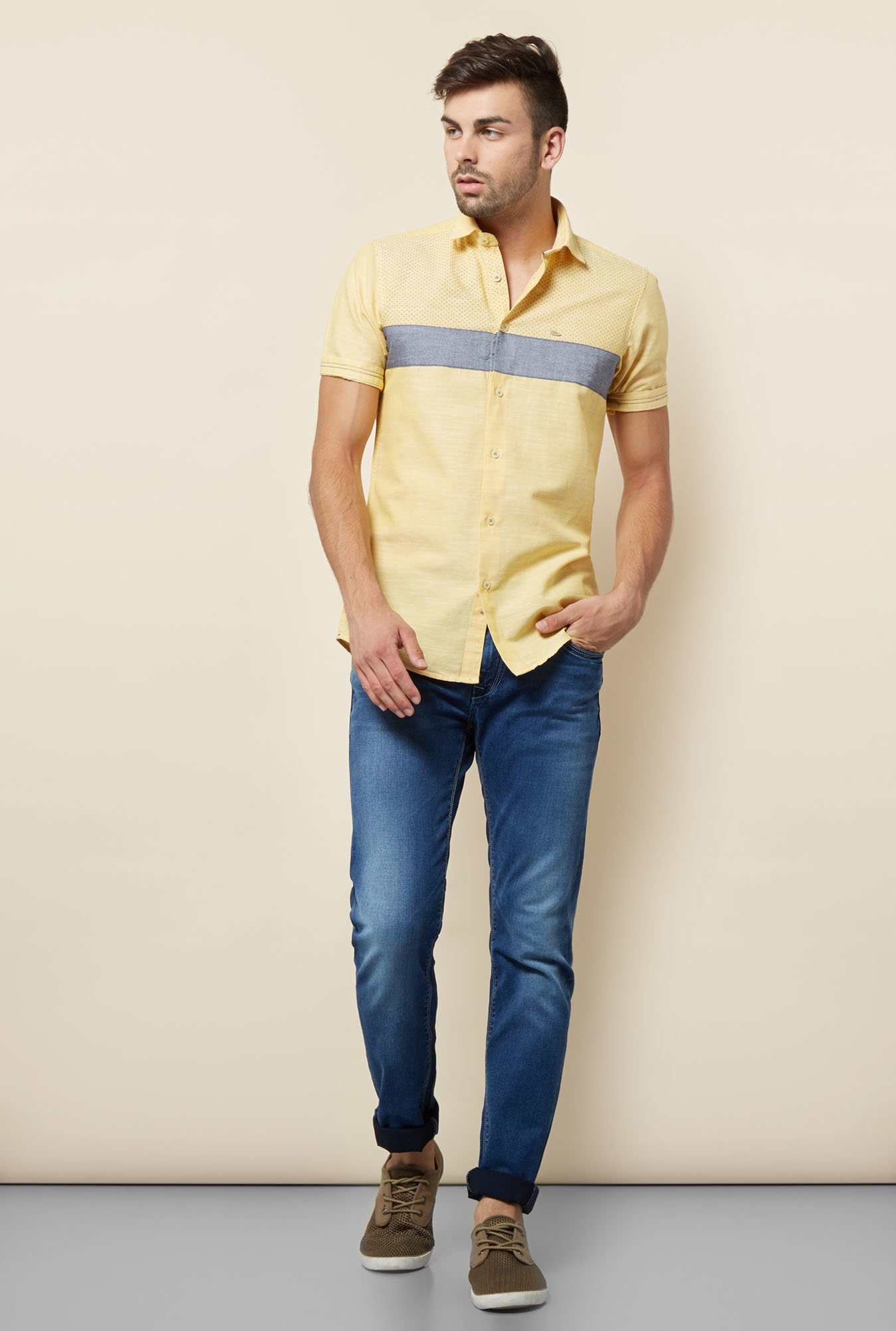 Lawman Lemon Printed Casual Shirt