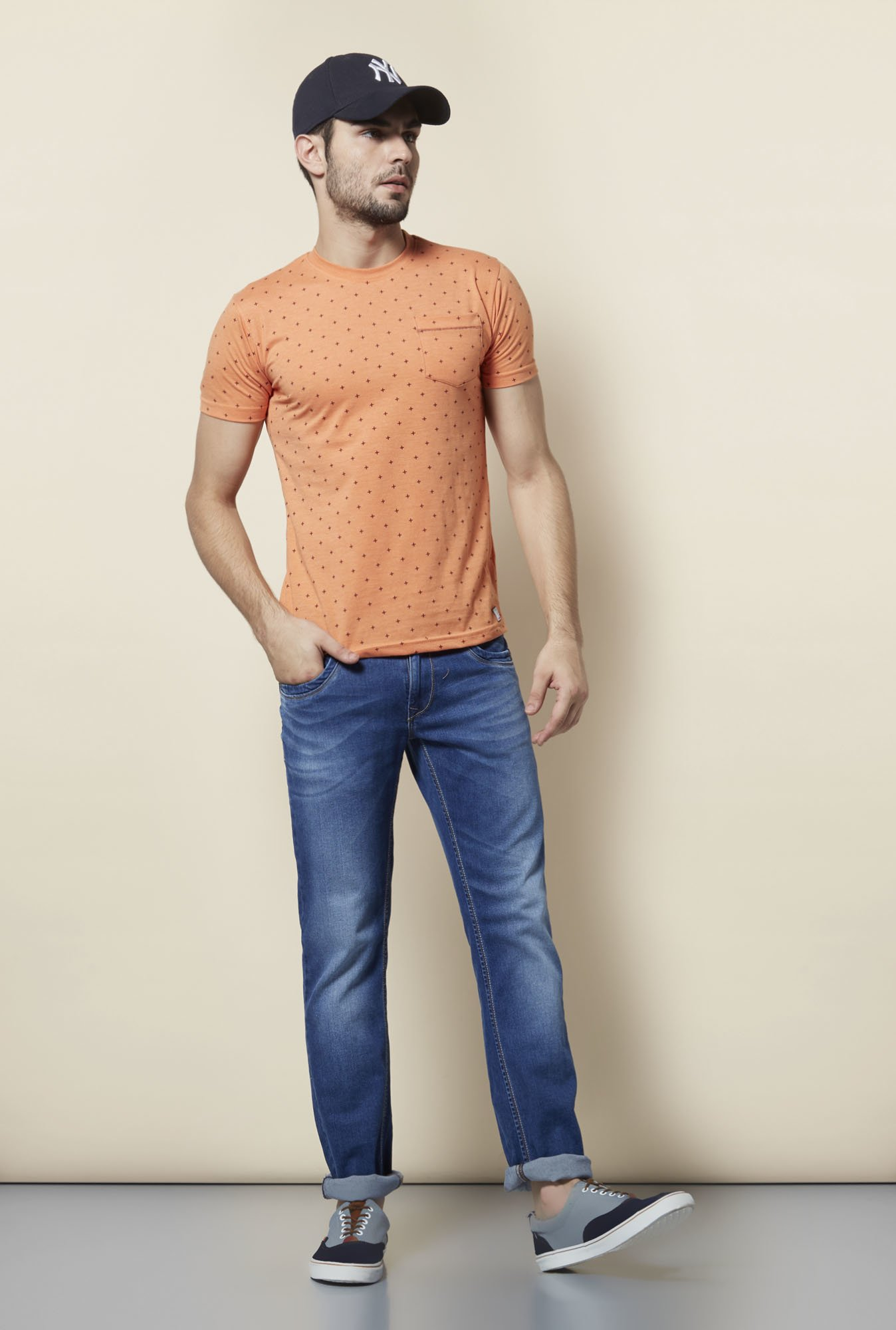 Lawman Blue Washed Slim Fit Jeans