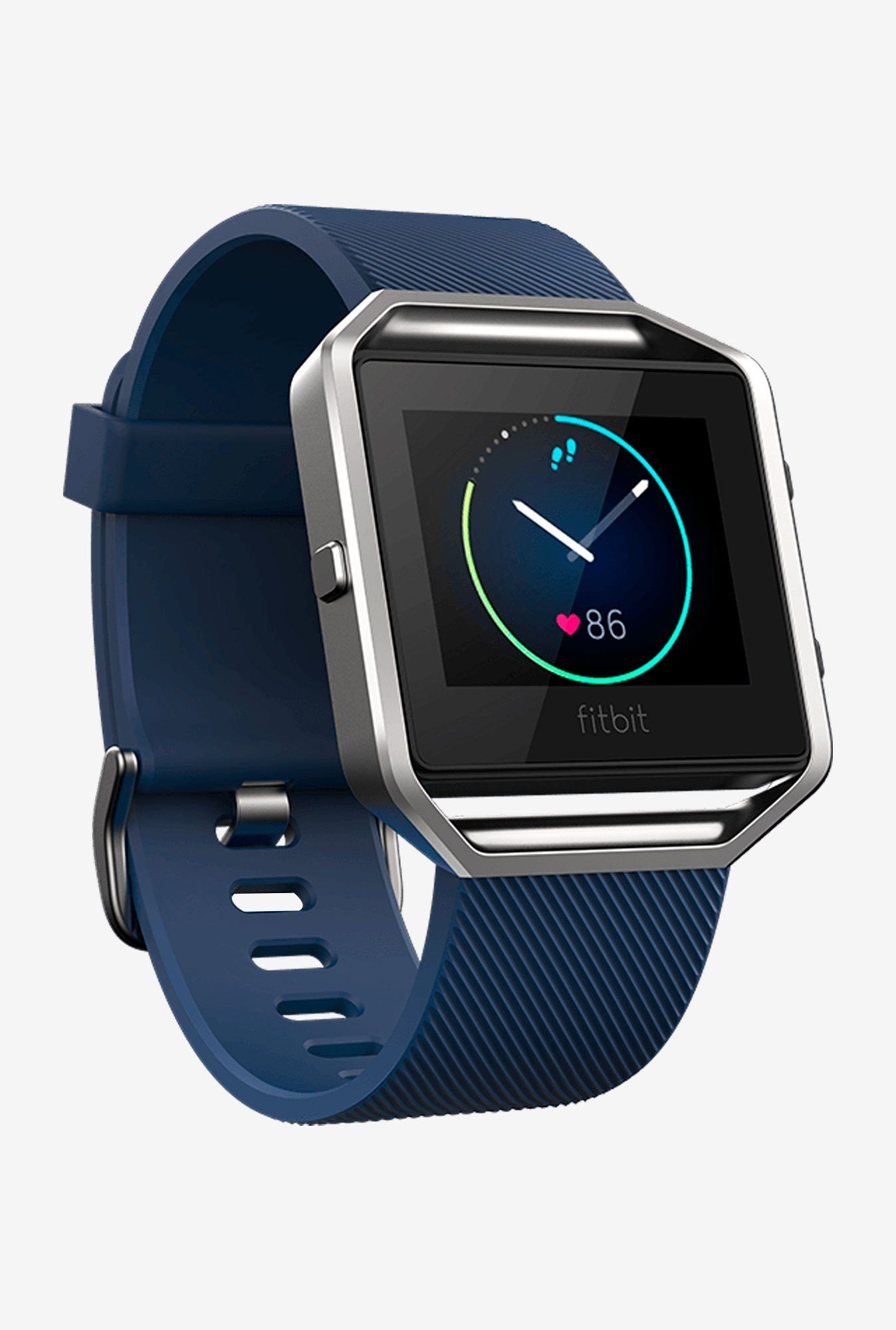Fitbit Blaze Smart Fitness Watch, Large (Blue/Silver)