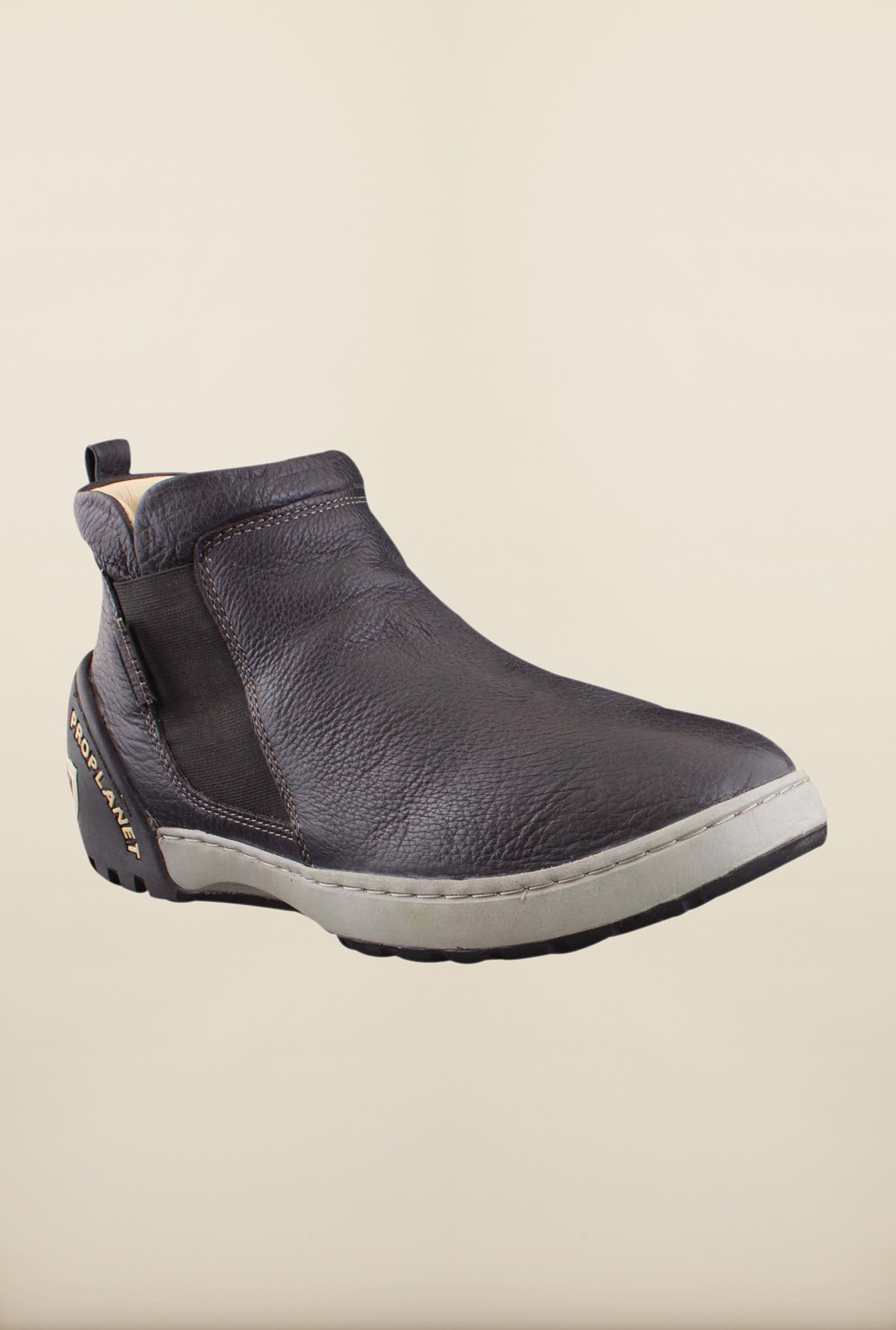 Woodland Black Ankle High Chelsea Boots