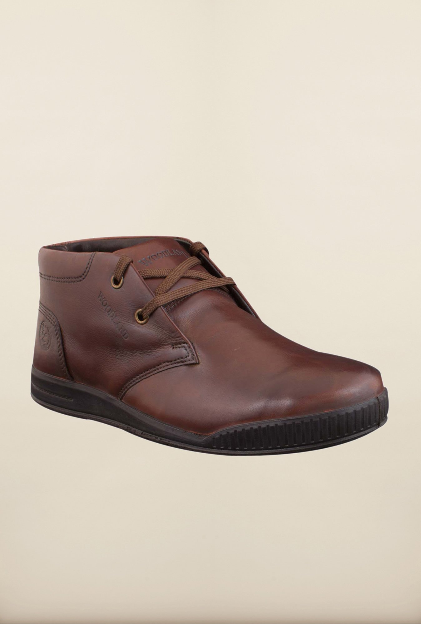 Woodland Brown Ankle High Chukka Boots