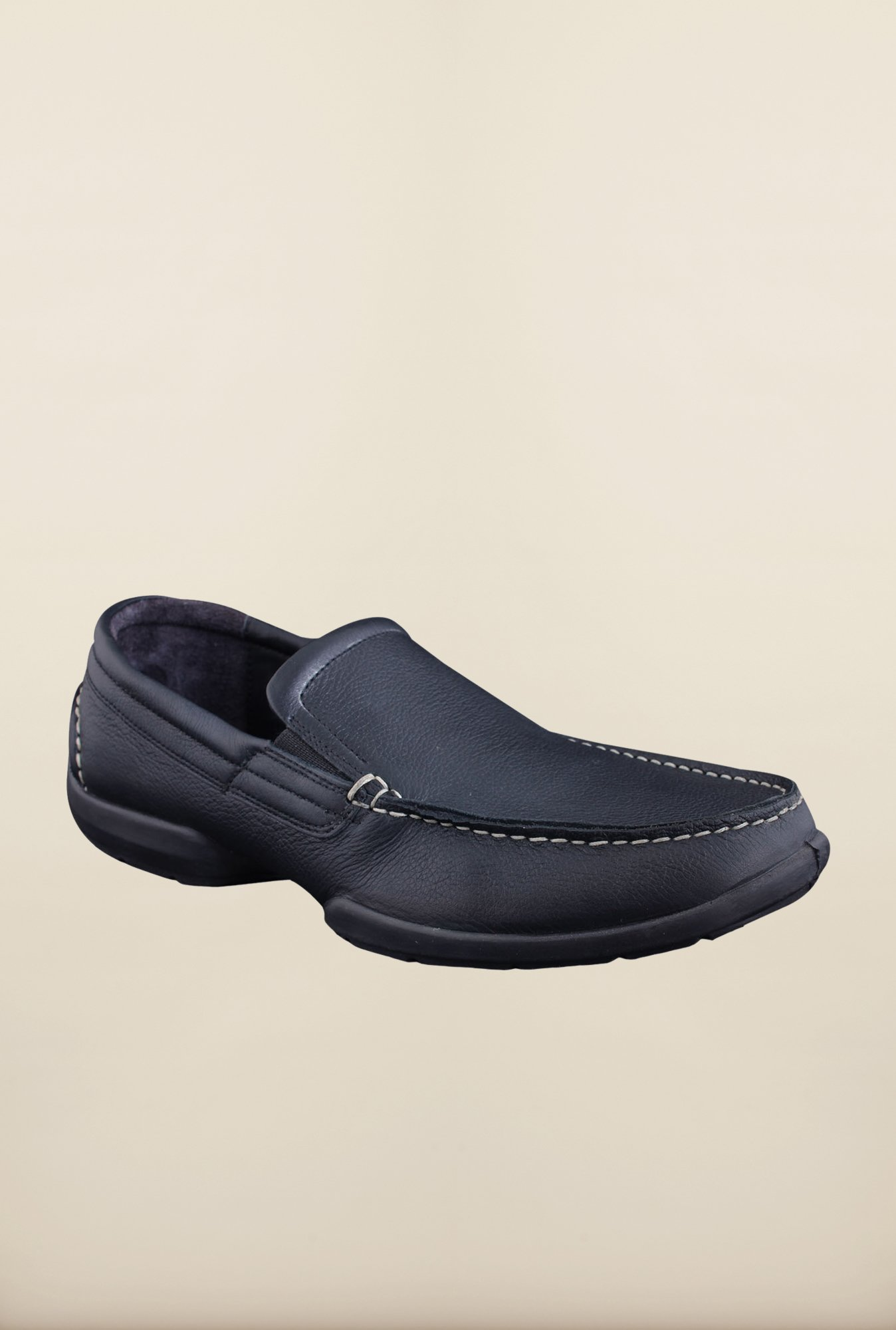 Woodland Black Loafers