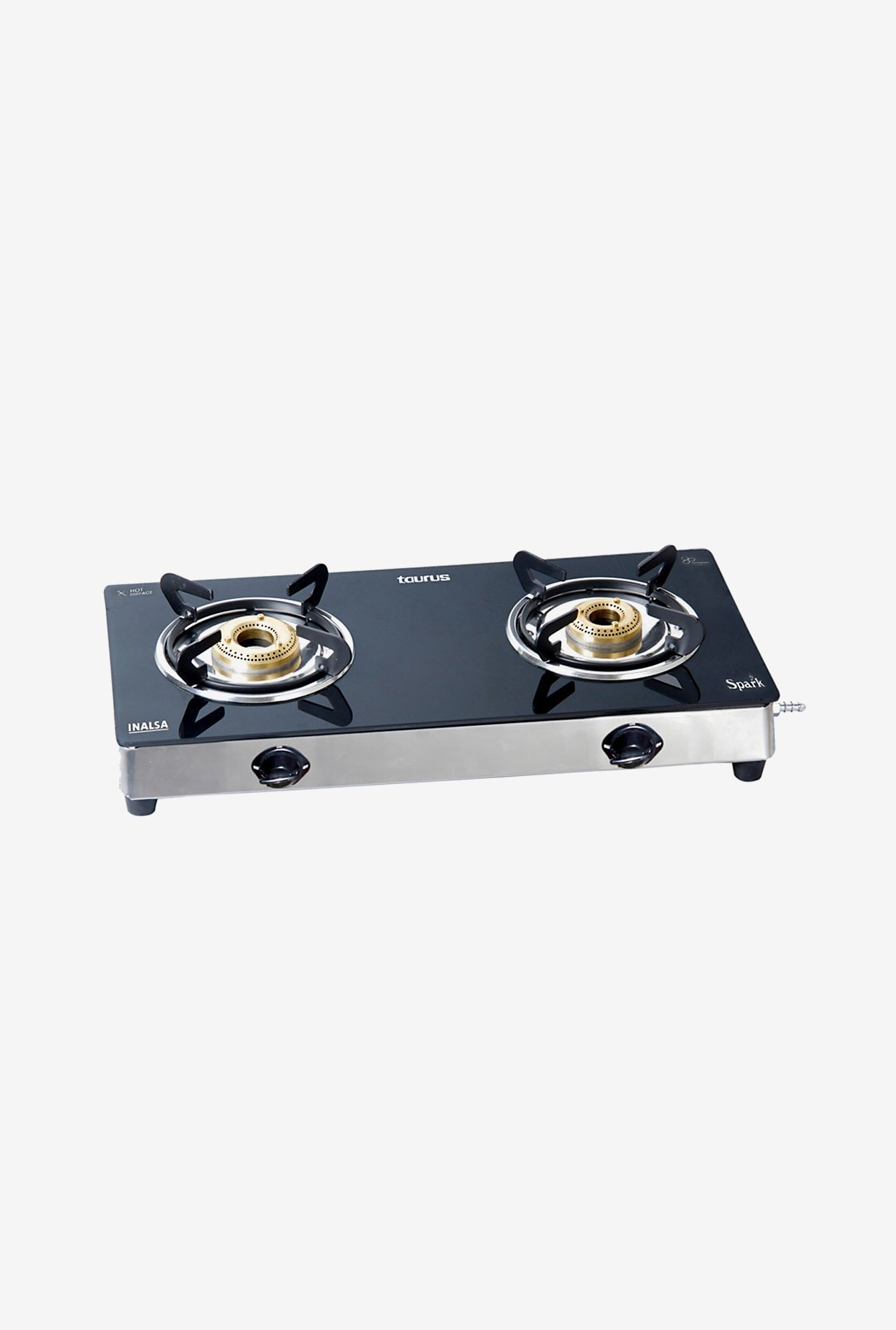Inalsa Spark SS 2 Burner Gas Cooktop Black