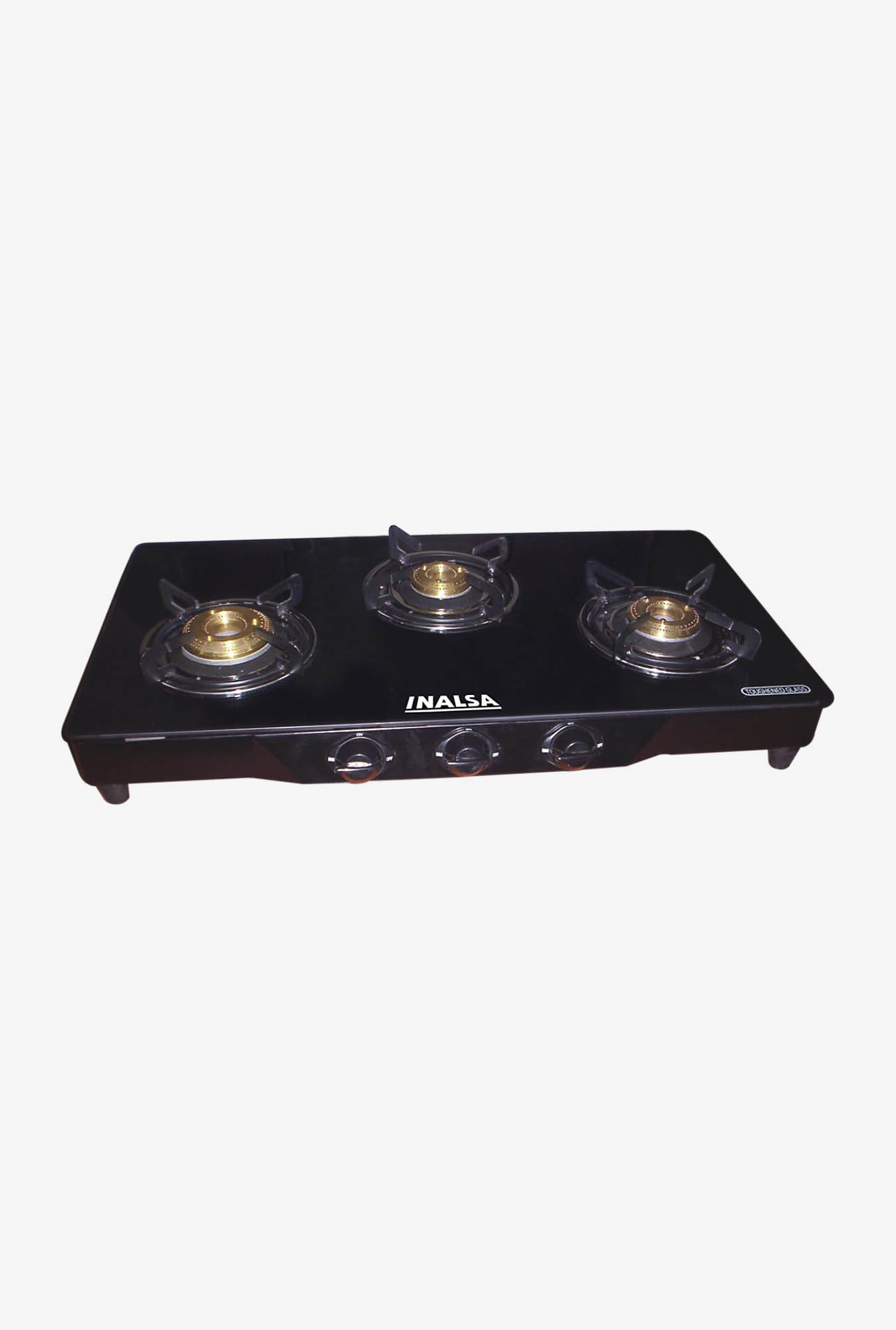 Inalsa Spark 3 Burner Gas Cooktop Black