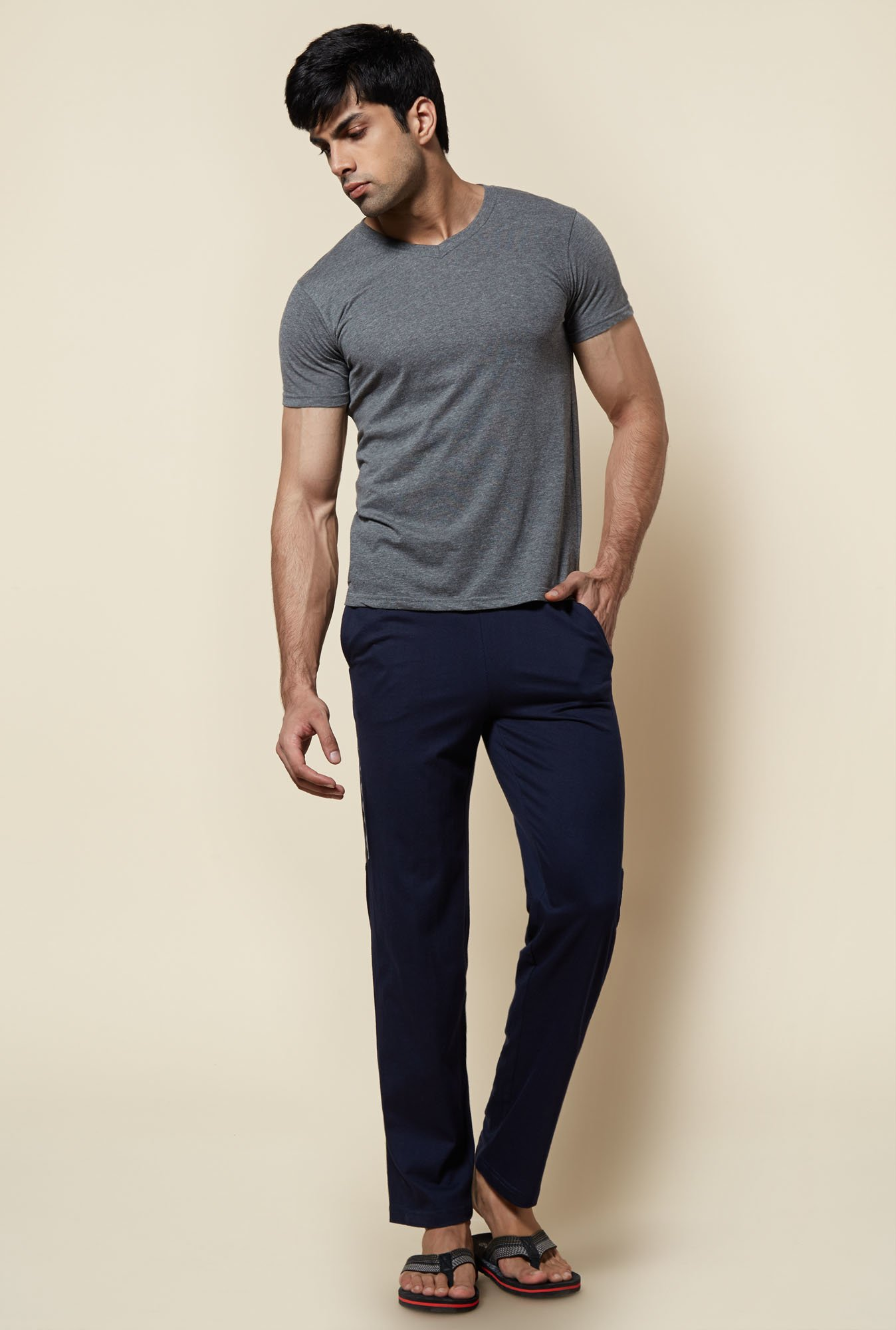 Zudio Navy Solid Trackpant