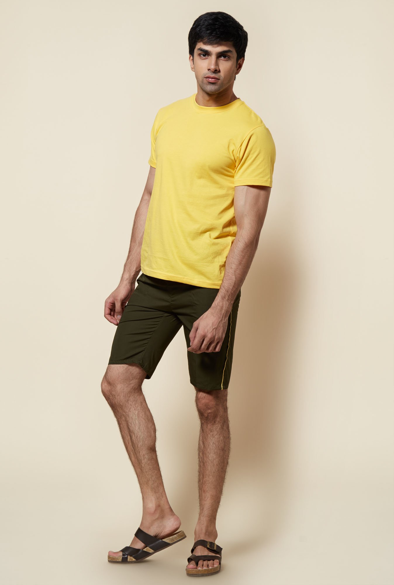Zudio Olive 3/4th Cotton Capri