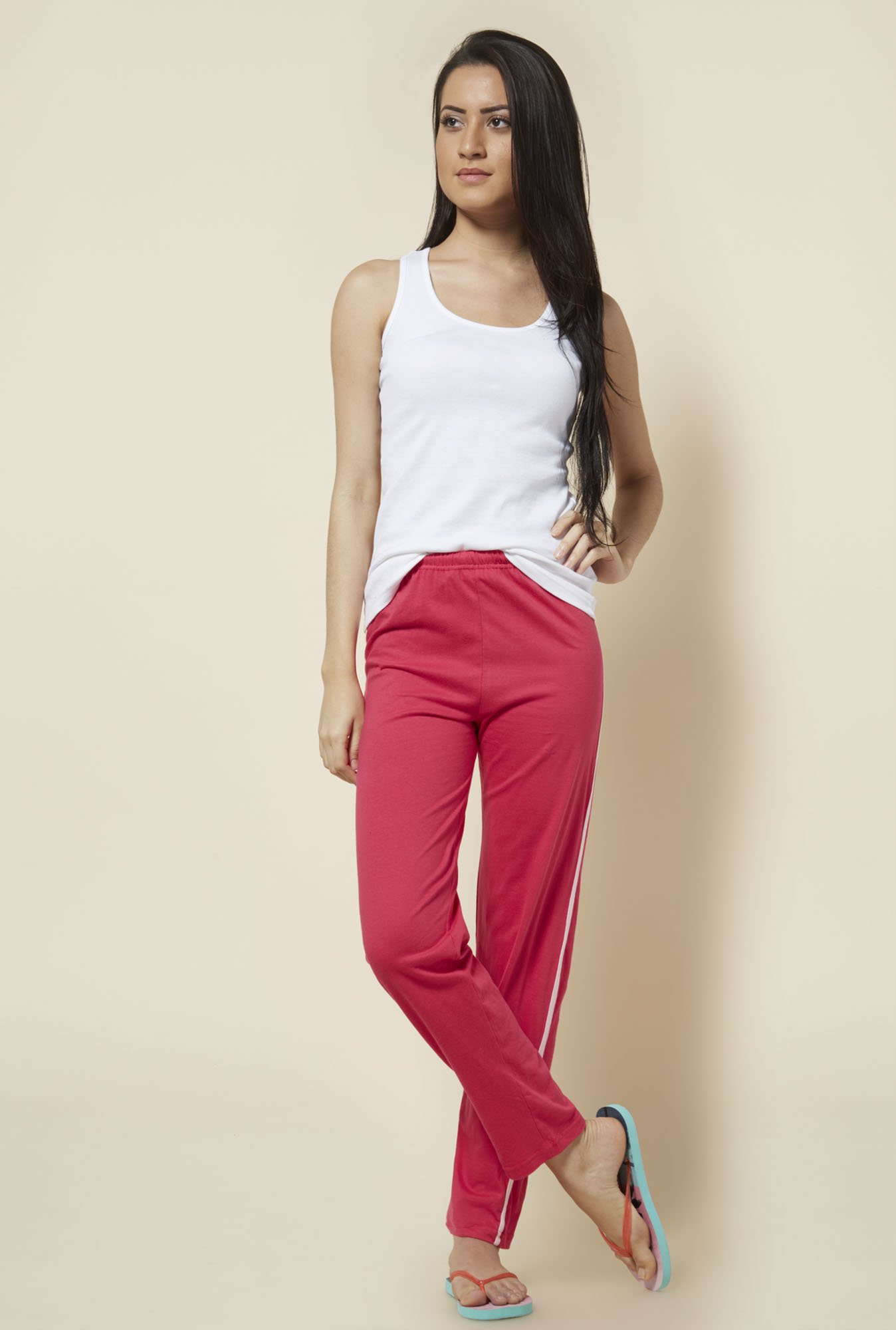 Zudio Pink Solid Trackpant