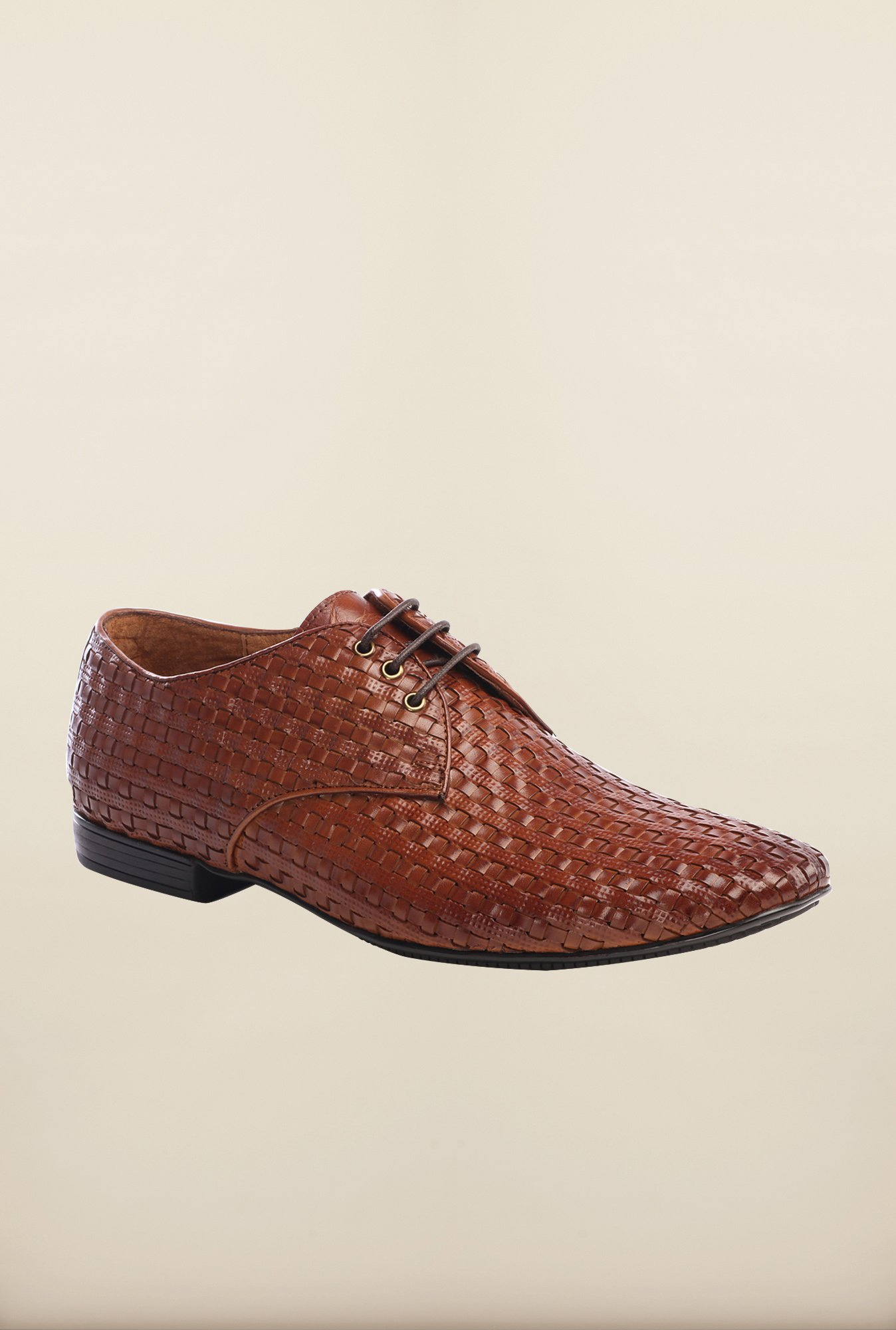 Pavers England Tan Derby Shoes