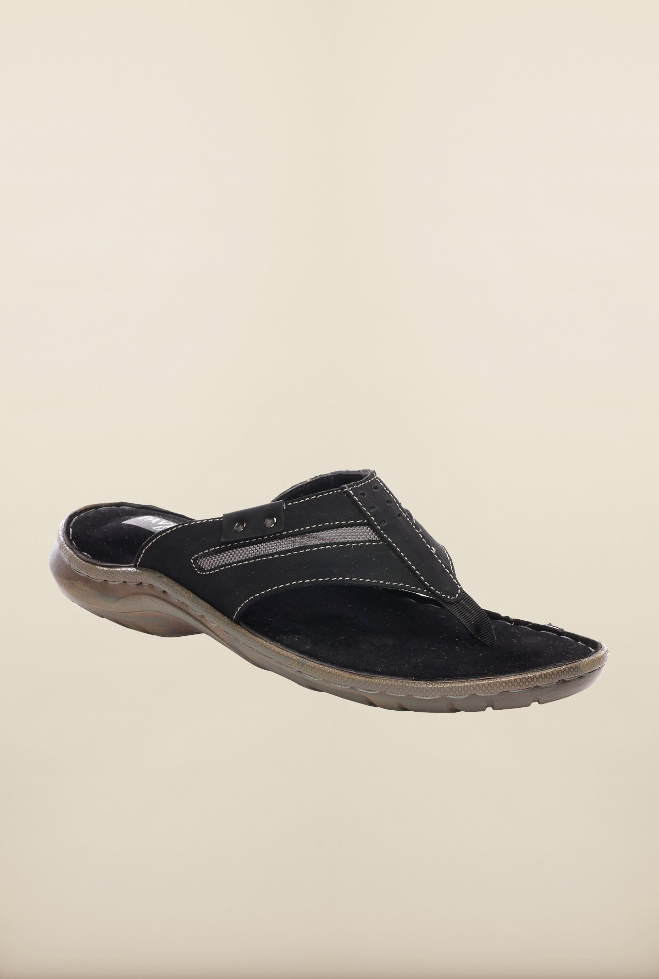 Pavers England Black Slippers