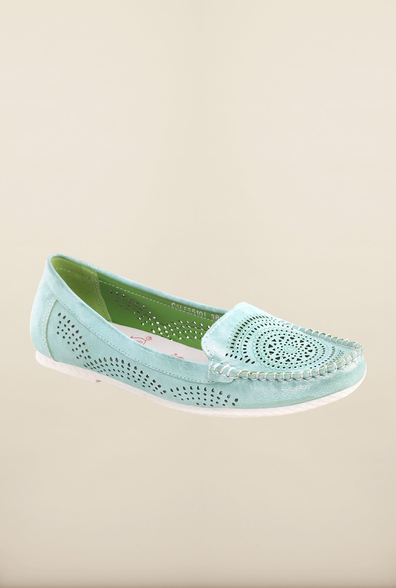 Pavers England Turquoise Loafers
