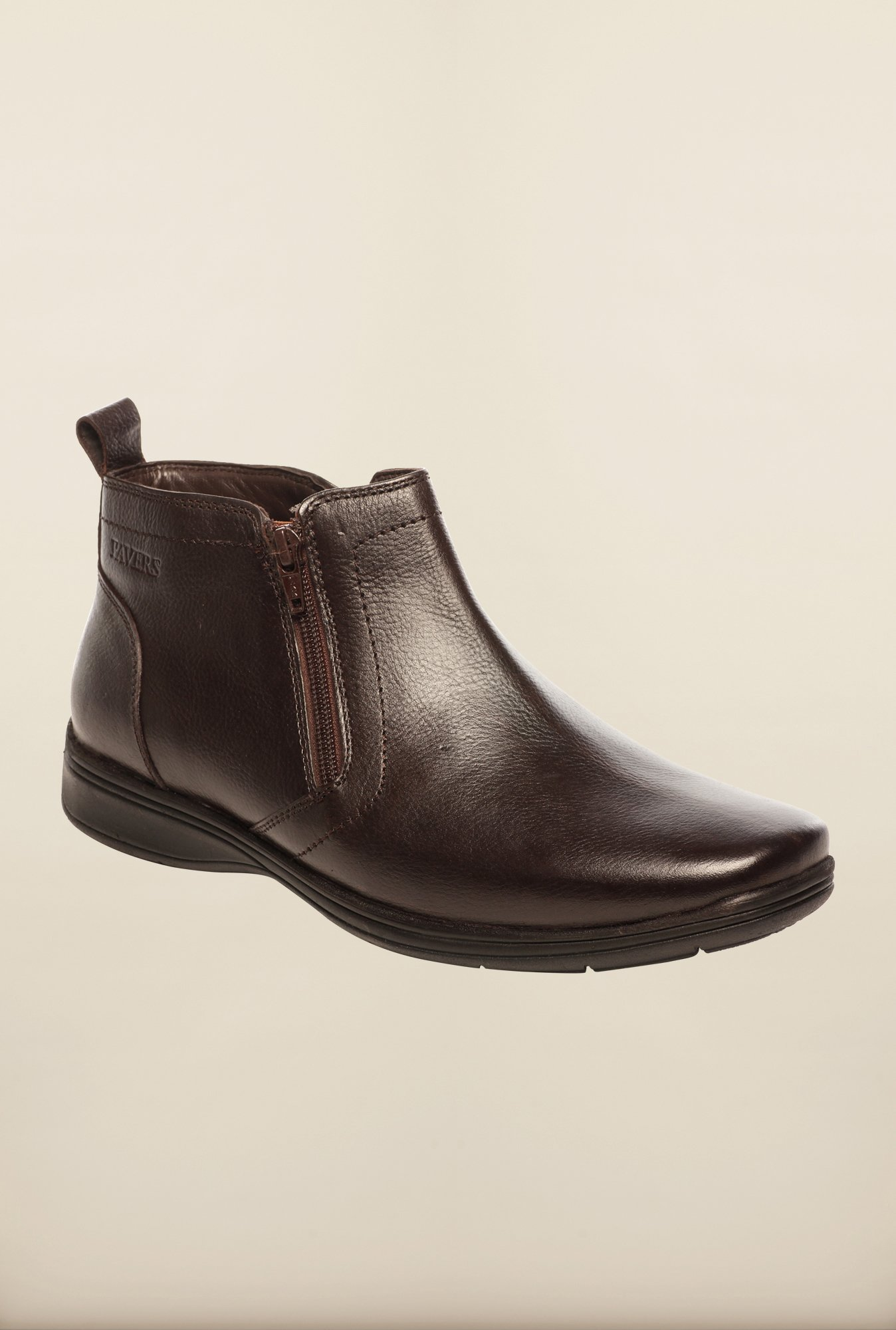 Pavers England Brown Biker Boots