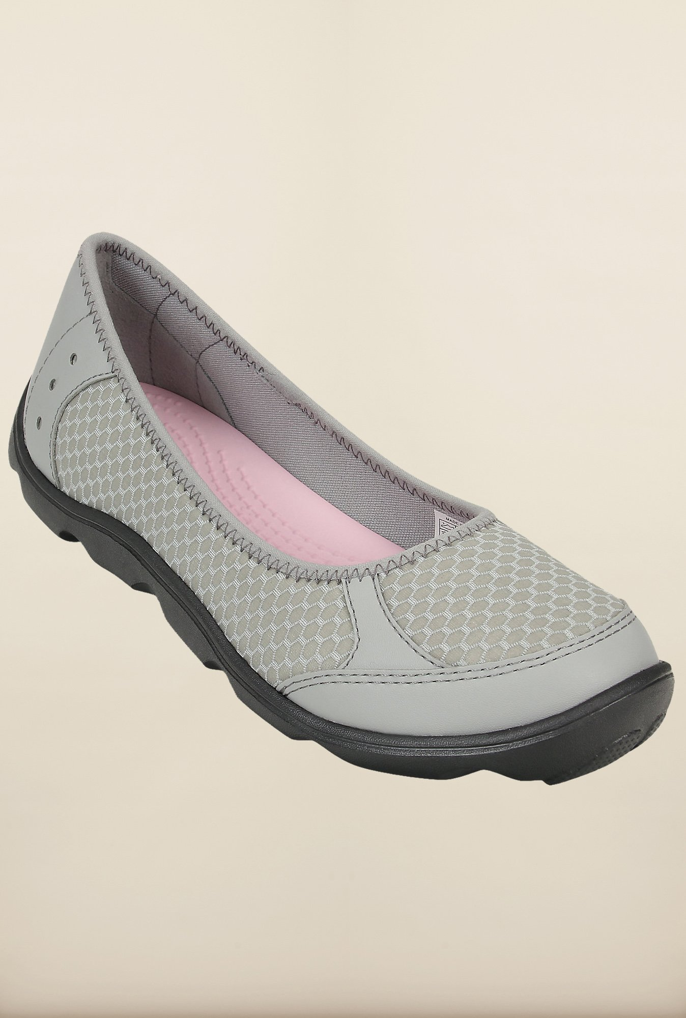 Crocs Duet Busy Day Ballet Light Grey and Graphite Ballerina