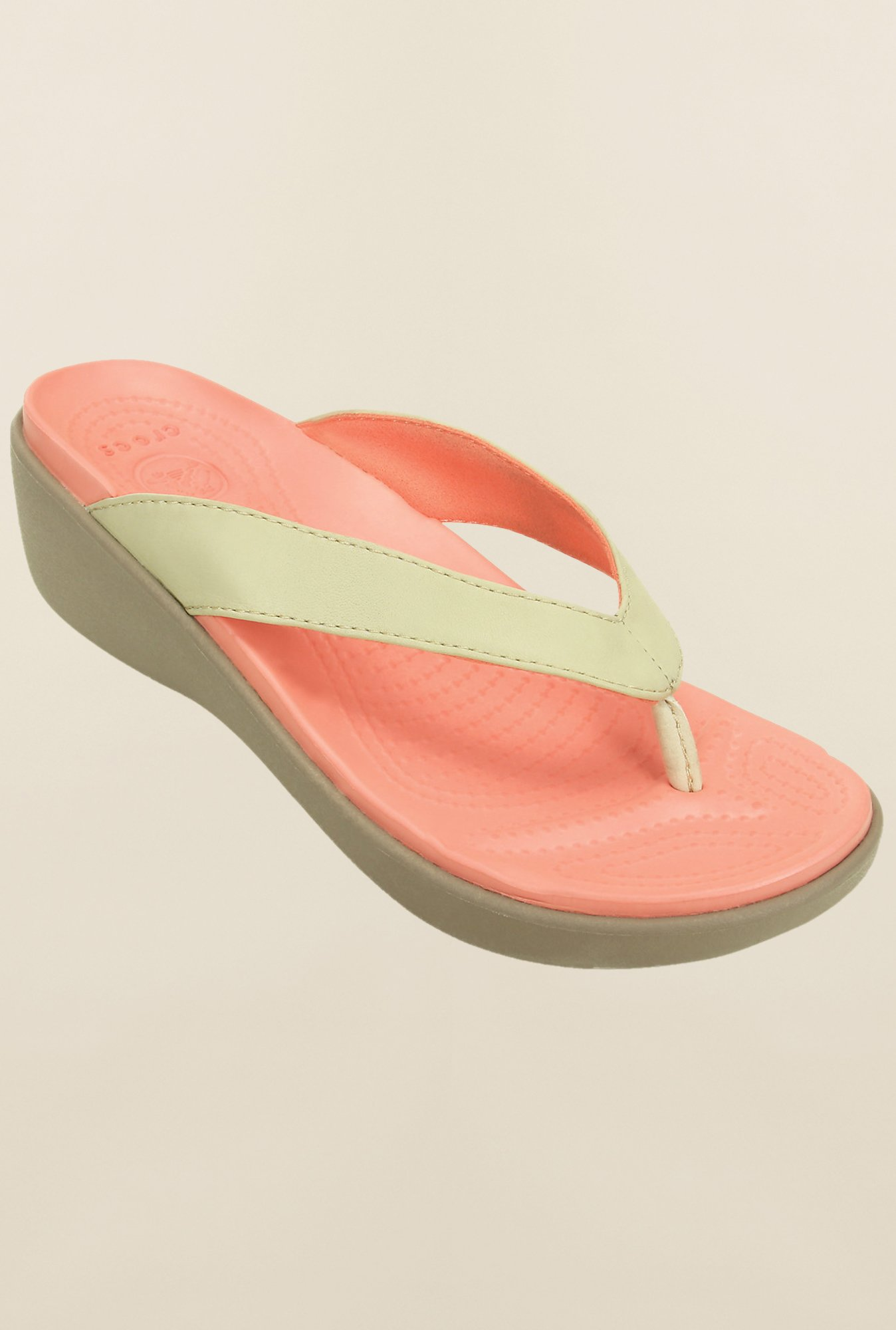 Crocs Capri Cream & Peach Sandals