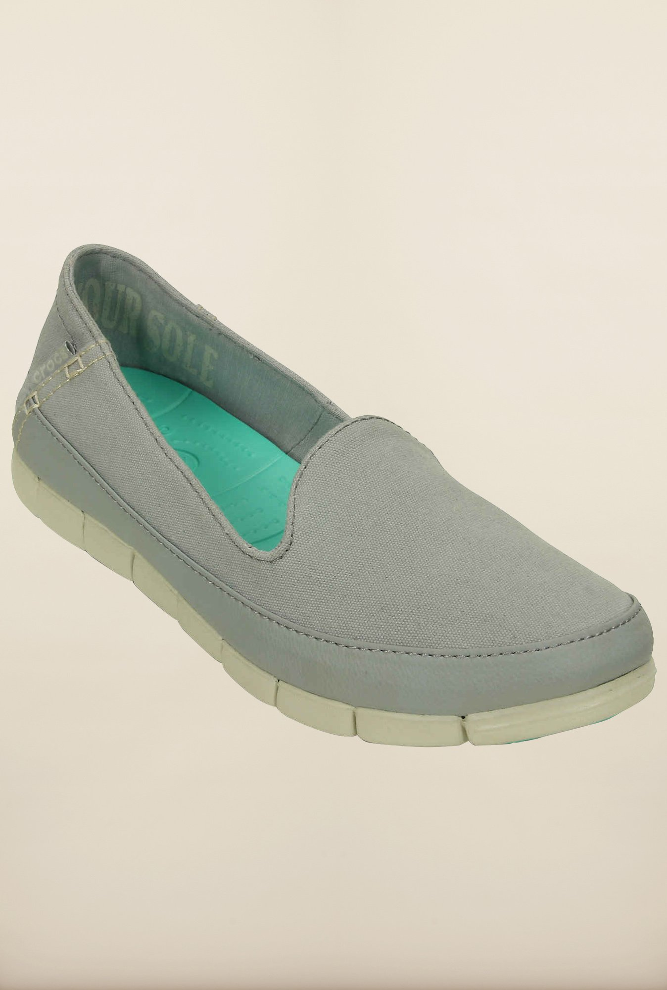 Crocs Stretch Sole Light Grey & Stucco Loafers
