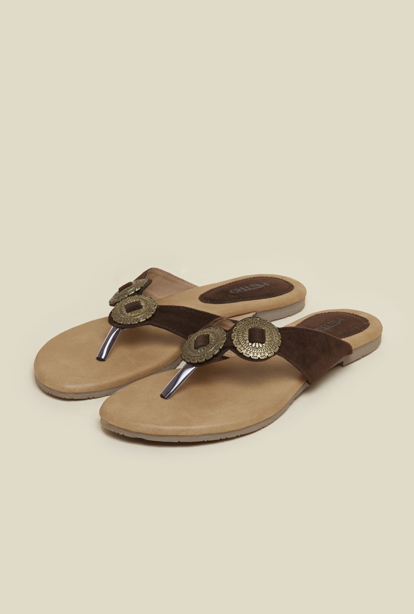 Metro Brown Suede Straps Sandals