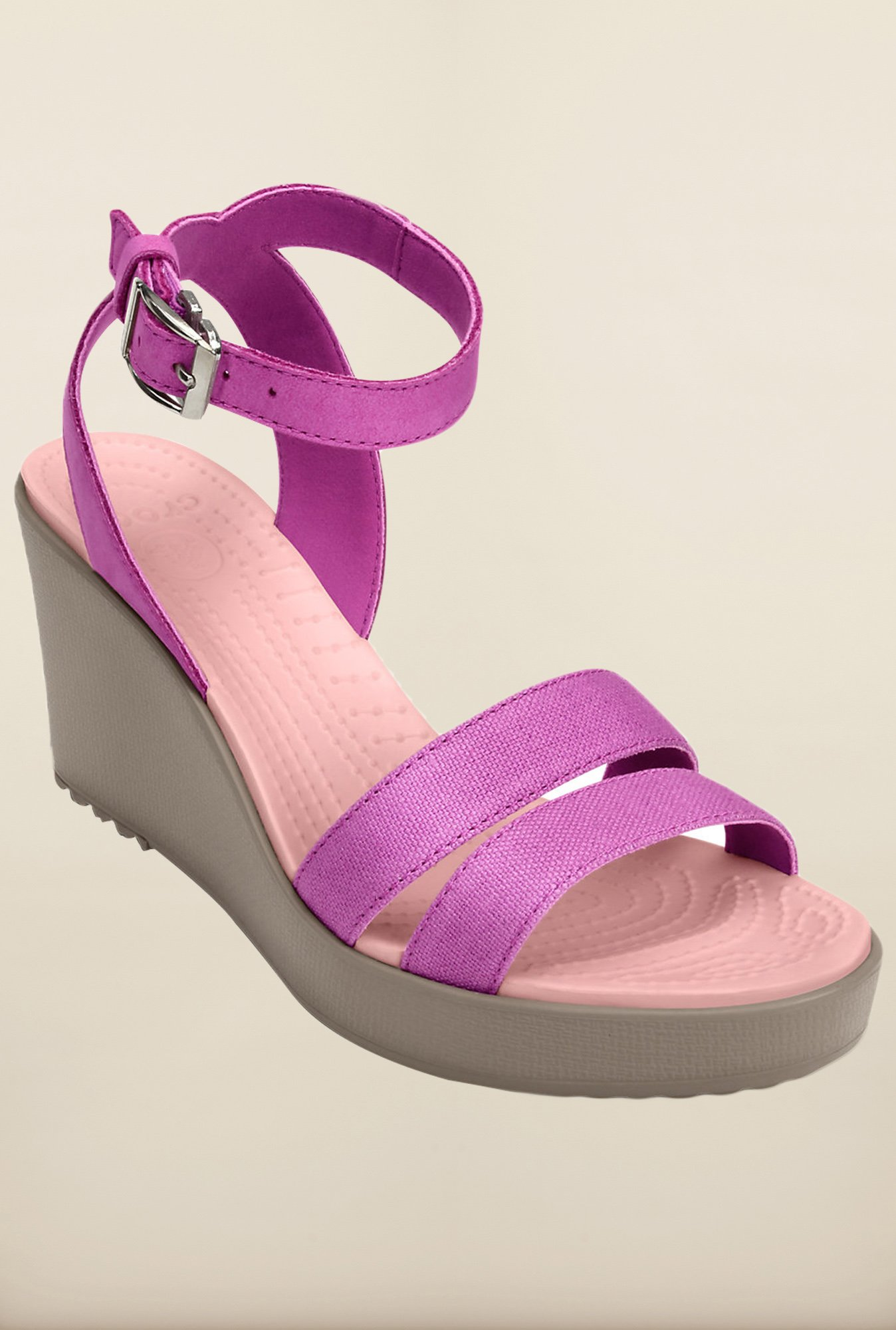 Crocs Leigh Purple Sandals
