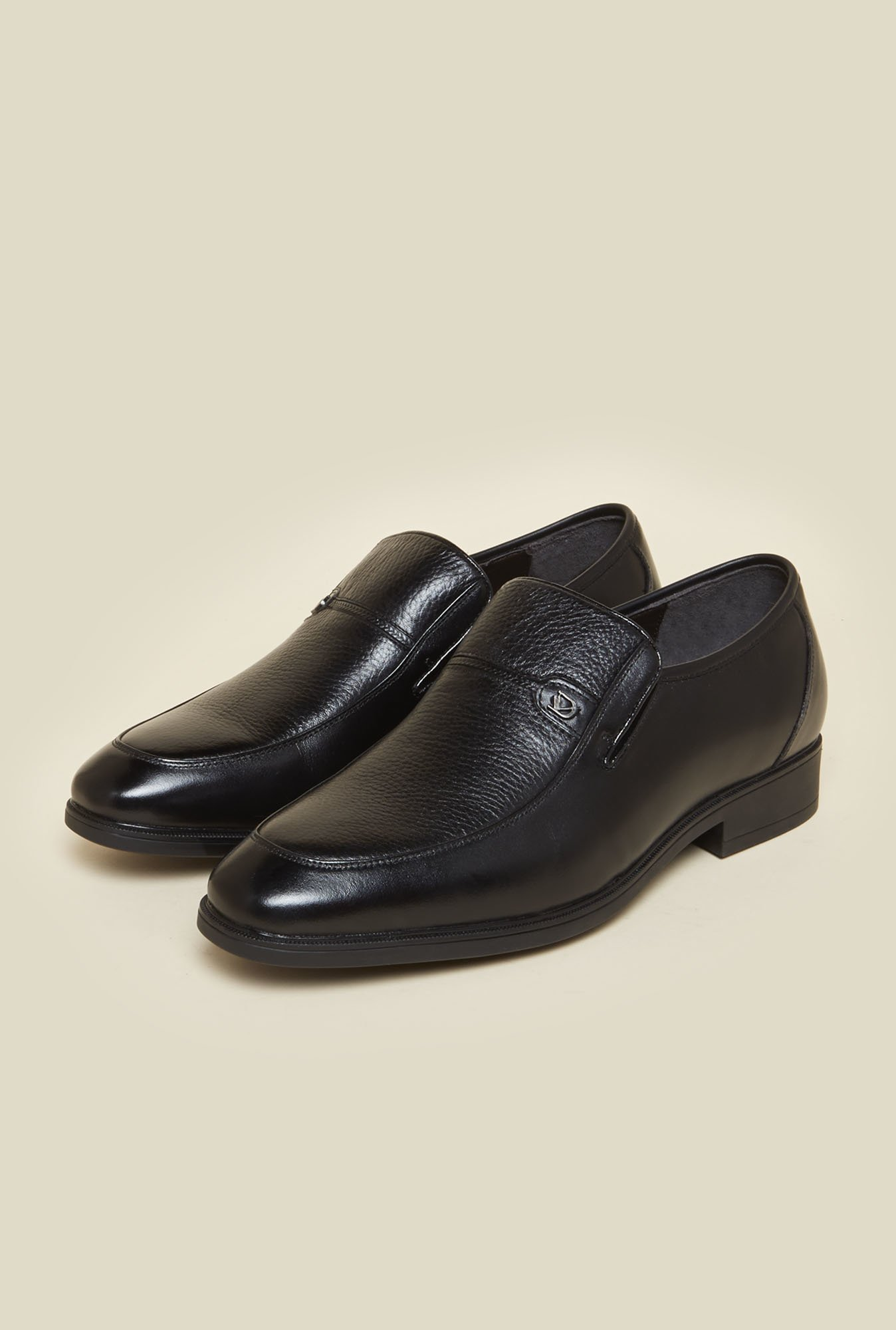 Da Vinchi Black Formal Moccasin