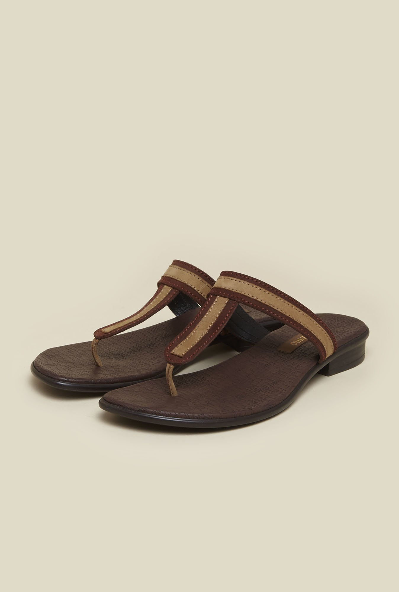 Metro Brown Casual Slip-Ons