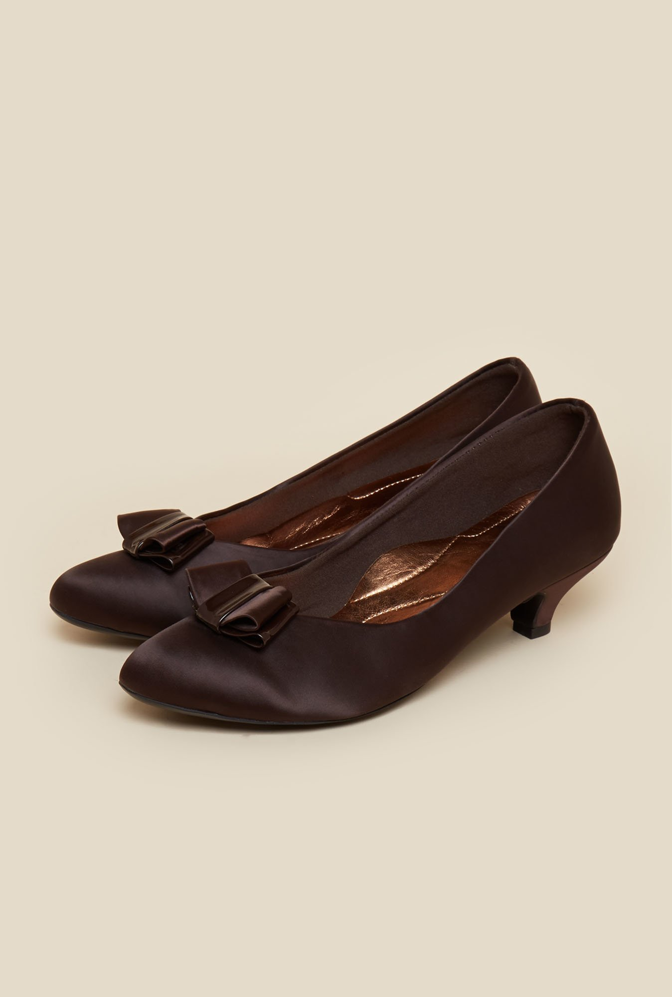 Metro Brown Slip-On Pumps