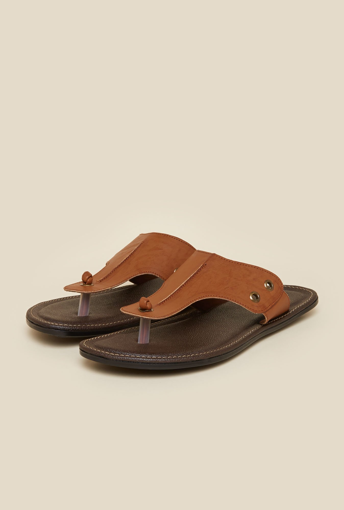 Metro Tan Slip-On Sandals