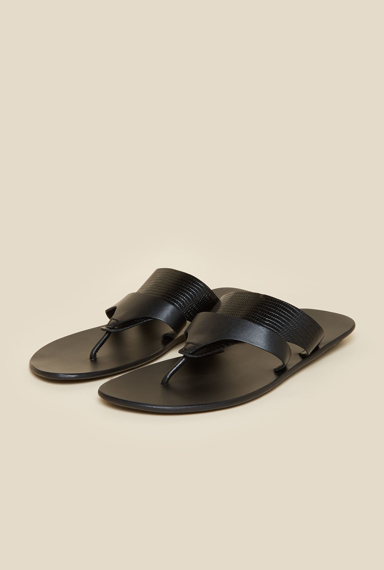 Metro Black Full Grain Leather Sandals