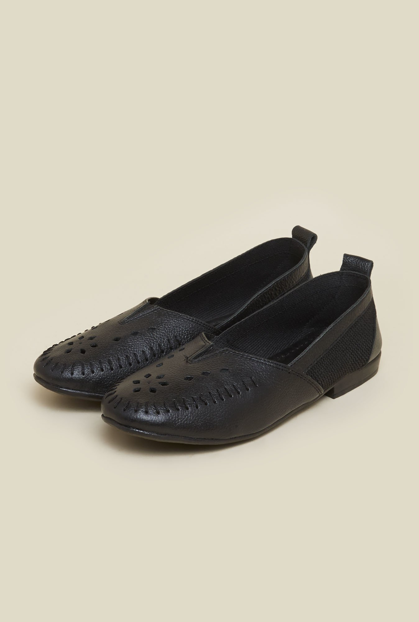 Metro Black Laser Cut Loafers