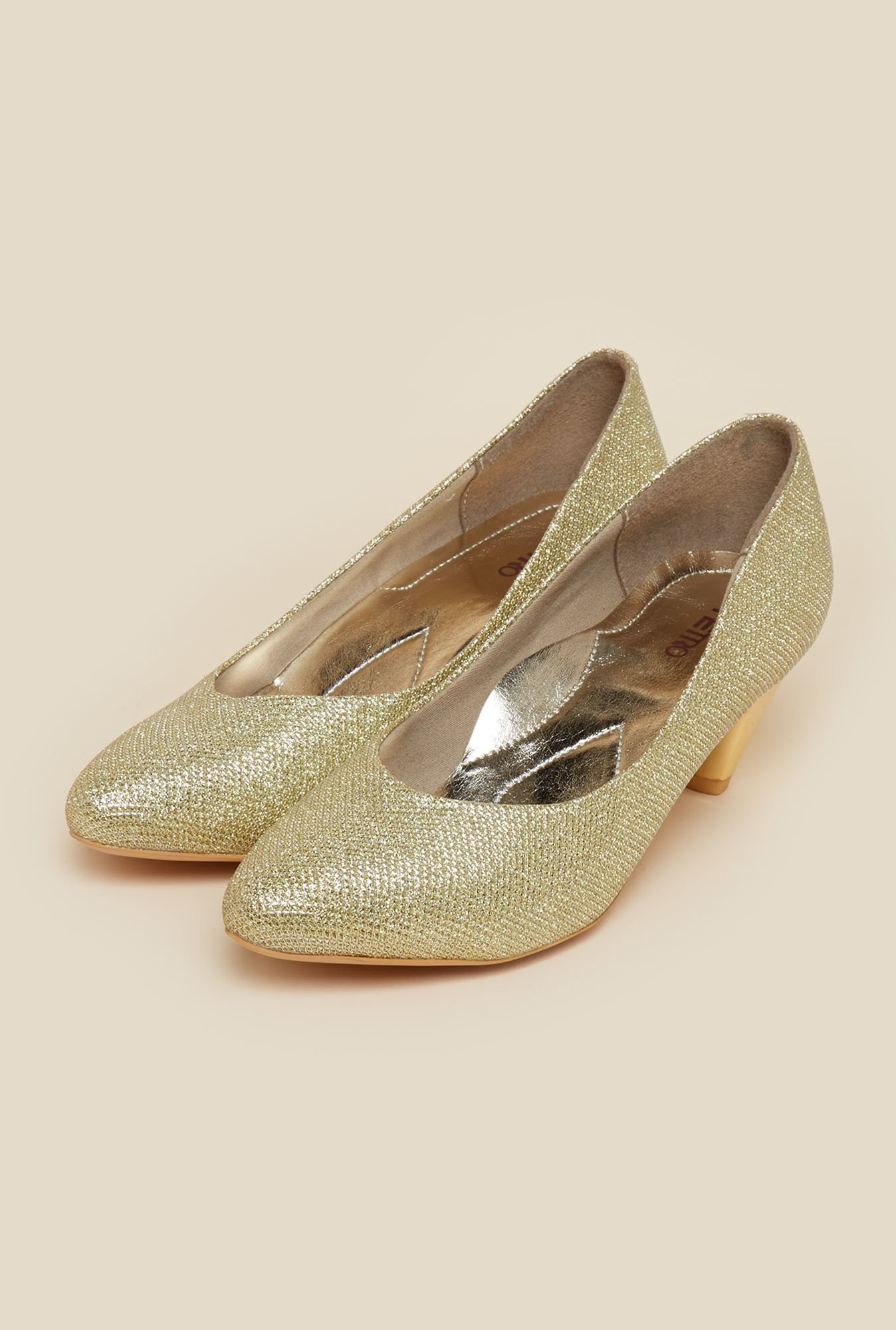 Metro Gold Slip-On Pumps