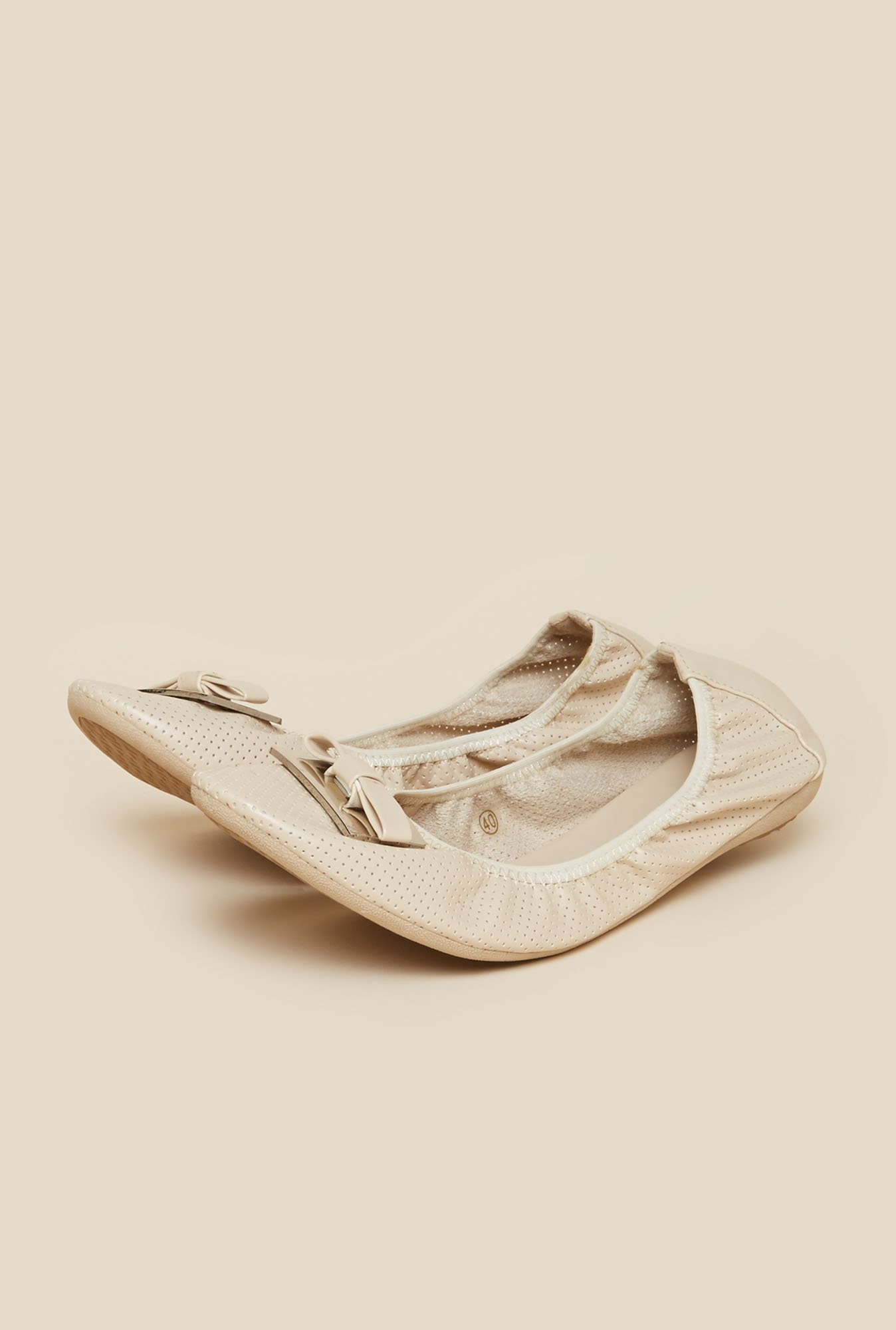 Metro Beige Ballerina Shoes