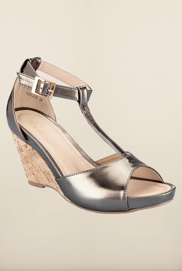 Tresmode Charstrap Pewter Wedges