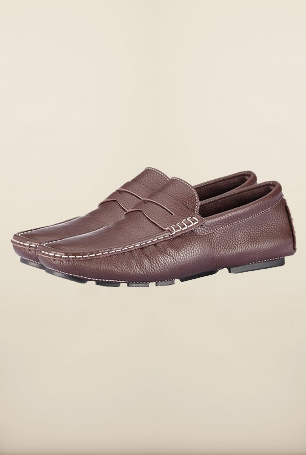 Tresmode Smocmilled Brown Loafers