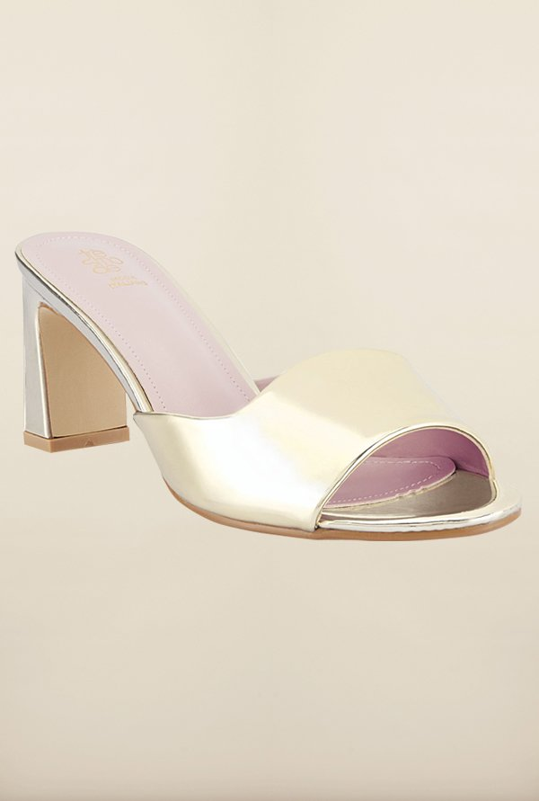 Tresmode Bestrap Gold Slide Sandals