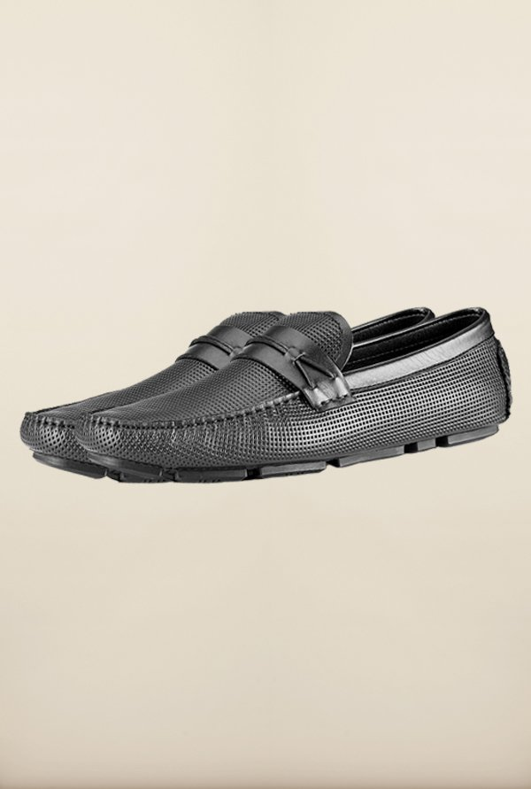 Tresmode Jinstrip Black Loafers