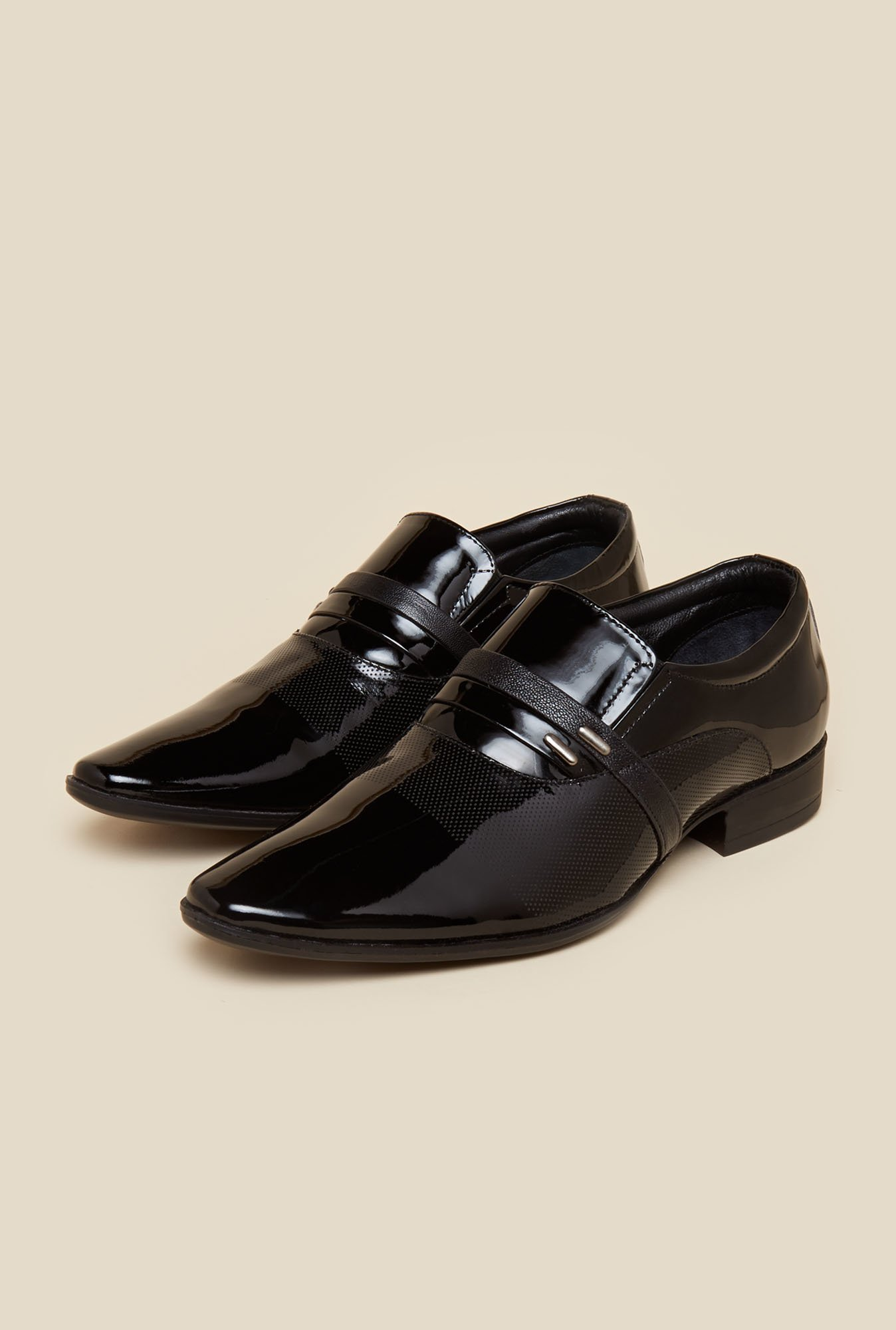 Metro Black Slip-On Shoes